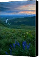 Hillside Canvas Prints - Dusk over the Yakima Valley Canvas Print by Mike  Dawson