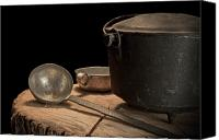 Heat Canvas Prints - Dutch Oven and Ladle Canvas Print by Tom Mc Nemar
