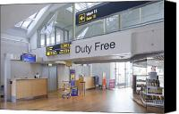 Airport Terminal Canvas Prints - Duty Free Shop at an Airport Canvas Print by Jaak Nilson