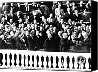First Lady Canvas Prints - Dwight Eisenhower First Inauguration Canvas Print by Everett