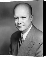 Patriot Photo Canvas Prints - Dwight Eisenhower Canvas Print by War Is Hell Store