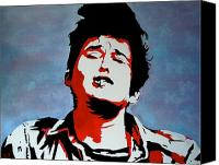 Bob Dylan Print Canvas Prints - Dylan Canvas Print by Austin James