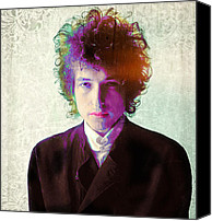 Bob Dylan Print Canvas Prints - Dylan Canvas Print by Stephen Walker