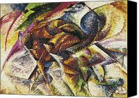Riding Canvas Prints - Dynamism of a Cyclist Canvas Print by Umberto Boccioni