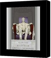 Pillars Canvas Prints - Ea-Z-Chair Lincoln Memorial Canvas Print by Mike McGlothlen
