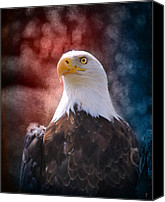 4th Of July Canvas Prints - Eagle I Canvas Print by Jai Johnson
