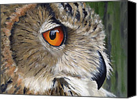Eagle Watching Canvas Prints - Eagle Owl Canvas Print by Mike Lester