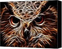 Eagle Watching Canvas Prints - Eagle Owl - Owl Eyes Canvas Print by Elaine Snyder
