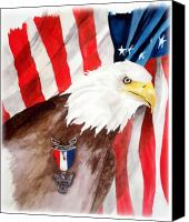 Bsa Canvas Prints - Eagle Scout Canvas Print by Rosalea Greenwood