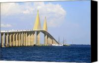 Florida Bridge Photo Canvas Prints - Eagle under the Sunshine Canvas Print by David Lee Thompson