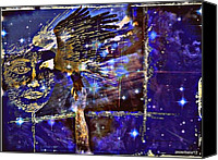 Youth Mixed Media Canvas Prints - Eagle What Loves Heights And Have Confidence In Your Talon Canvas Print by Paulo Zerbato