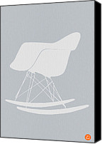 Dwell Canvas Prints - Eames Rocking Chair Canvas Print by Irina  March