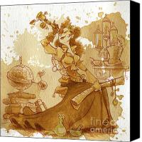 Travel Canvas Prints - Earl Grey Canvas Print by Brian Kesinger