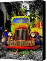 Old Trucks Canvas Prints - Early Brockway Canvas Print by Mickey Murphy