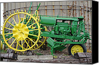 John Deere Tractor Canvas Prints - Early Deere Canvas Print by David Bearden