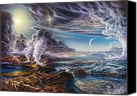 Natural History Canvas Prints - Early Earth Canvas Print by Don Dixon