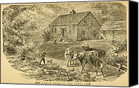 Jesse James Canvas Prints - Early Home Of The James Boys In Clay Canvas Print by Everett