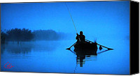 Colette Canvas Prints - Early Morning Fishing  Canvas Print by Colette Hera  Guggenheim