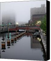 Providence Canvas Prints - Early Morning Fog Canvas Print by Barry Doherty