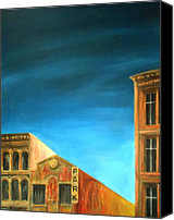 Rome Mixed Media Canvas Prints - Early Morning On Canal St - Nyc Canvas Print by Dan Haraga
