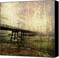 Fine Photography Art Canvas Prints - Early Morning Pier Canvas Print by Skip Nall