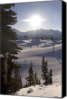 Snow Scenes Photo Canvas Prints - Early Morning Skiing Canvas Print by Taylor S. Kennedy