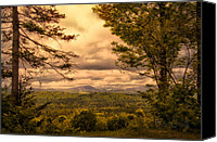 Maine Canvas Prints - Early Spring Rain Canvas Print by Bob Orsillo