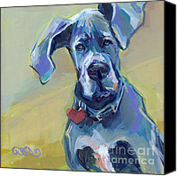 Great Dane Canvas Prints - Ears Canvas Print by Kimberly Santini