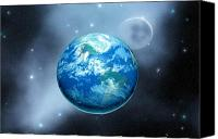 Space Art Canvas Prints - Earth Canvas Print by Corey Ford