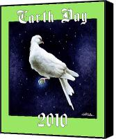 Dove Canvas Prints - Earth Day... Canvas Print by Will Bullas