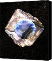 Ice Age Canvas Prints - Earth In Ice, Conceptual Computer Artwork Canvas Print by Christian Darkin
