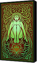 Psychedelic Canvas Prints - Earth Spirit Canvas Print by Cristina McAllister