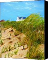 Norfolk Painting Canvas Prints - East Beach  Norfolk VA Canvas Print by Mary Kay Holladay