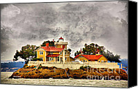 Cheryl Young Canvas Prints - East Brother Lighthouse Canvas Print by Cheryl Young