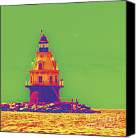 East Coast Canvas Prints - East Coast Lighthouse Canvas Print by Cindy Lee Longhini
