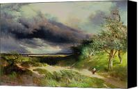 Thomas Moran Canvas Prints - East HamptonLong Island Sand Dunes Canvas Print by Thomas Moran