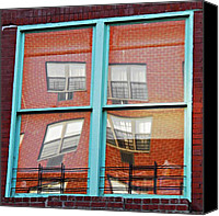 Harlem Canvas Prints - East Harlem Windows 2 Canvas Print by Sarah Loft