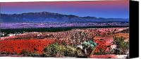 Santa Fe Canvas Prints - East of Albuquerque Canvas Print by David Patterson