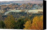 Vermont Autumn Foliage Canvas Prints - East Peacham Vermont in Autumn Canvas Print by John Burk