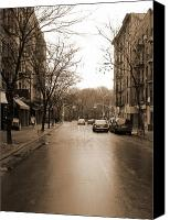 City Canvas Prints - East Village In Winter Canvas Print by Utopia Concepts