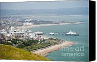 English Jewelry Canvas Prints - Eastbourne from Beachy Head Sussex UK Canvas Print by Donald Davis