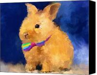Easter Bunny Painting Canvas Prints - Easter Bunny Canvas Print by Jai Johnson