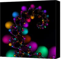 Eggs Digital Art Canvas Prints - Easter DNA Galaxy 111 Canvas Print by Rolf Bertram