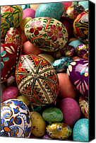 Still-life Canvas Prints - Easter Eggs Canvas Print by Garry Gay
