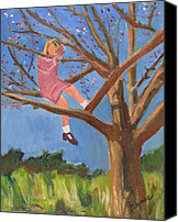 Tom Boy Canvas Prints - Easter in the Apple Tree Canvas Print by Betty Pieper