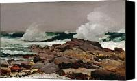 Rocks Painting Canvas Prints - Eastern Point Canvas Print by Winslow Homer