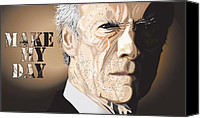 Award Digital Art Canvas Prints - Eastwood Canvas Print by Mike  Haslam