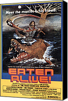 Eaten Canvas Prints - Eaten Alive, Poster, 1977 Canvas Print by Everett