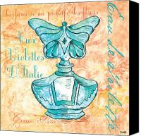 Aqua Canvas Prints - Eau de Toilette Canvas Print by Debbie DeWitt