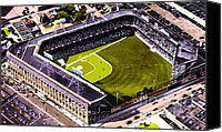 Ebbets Field Canvas Prints - Ebbets Field In Brooklyn N Y In 1930 Canvas Print by Dwight Goss